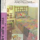 McCall's Vintage 3864, Bed Cover and Pillow Sham, Twin  and double sizes