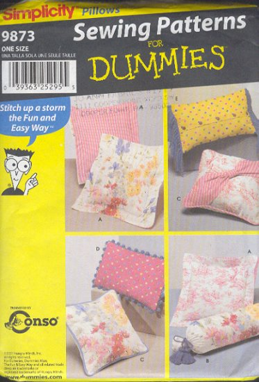 Simplicity Sewing Pattern, 9873 Throw Pillows, 6 styles