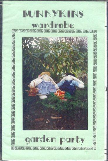 "Sewing Pattern, Bunykins Garden Party Wardrobe, 20"" bunny rabbit"
