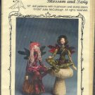 "Sewing Pattern, Magic Threads, Blossom and Twig, 10"" dolls, mushroom, stump, Fairies"