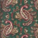 Sewing Fabric Cotton Paisley on Medium Green 1.5 yds   No. 124
