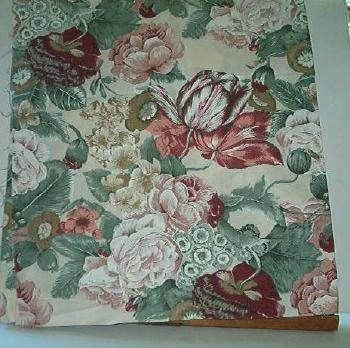 "Sewing Fabric Cotton Big Flower Print 3.5 X 44""  No. 116"