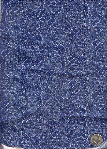 "Sewing Fabric Cotton Medium Blue 1.5 yds X 44"" No. 110"