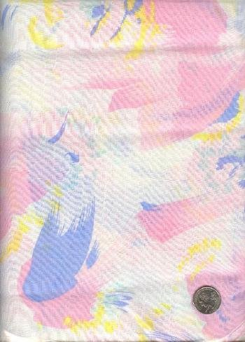 "Sewing Fabric Cotton Blend Pastel 2 yds X 44""   No. 129"
