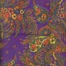 "Sewing Fabric Cotton Plum Paisley 2 yds X 44""  o. 123"