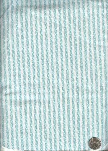 "Sewing Fabric Cotton Green stripe 1-1/3 yds X 44""  No. 144"