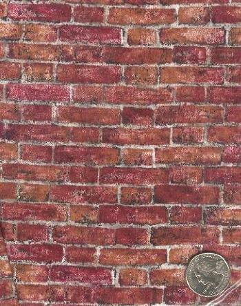 "Sewing Fabric Cotton Bricks 1 yd X 44"" Neat  No. 113"