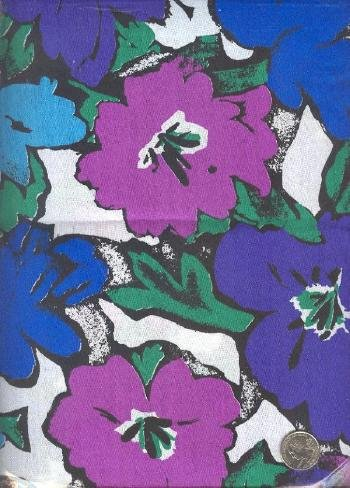 "Sewing Fabric Cotton Hawaii flowers 4 yds X 44""  No. 159"