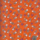 Sewing Fabric Cotton Halloween Skull Crossbones 6 yds  No. 151