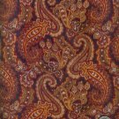 "Sewing Fabric Cotton Brown Paisley l.25 yds X 44""  No. 157"