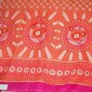 Sewing Fabric Cotton Soft Orange Border Print 3 yds  No. 158