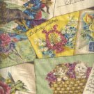 "Sewing Fabric Cotton Old Postcards 1.75 yds X 56""  No. 169"