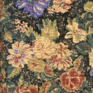 Sewing Fabric Cotton Beige Flowers on Black 2.5 yards  No. 172