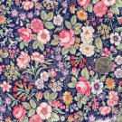 Sewing Fabric Cotton Small Print Flowers on navy 1 yard  No. 179