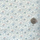 Sewing Fabric Cotton Small Print Flowers Cream 1.33 yds  No. 180