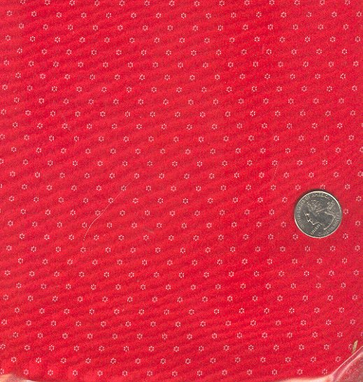 Sewing Fabric Cotton Small Print tiny daisies on red  2 yards, No. 183