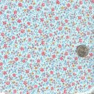 Sewing Fabric Cotton Small Print Flowers on Pale blue  No. 187