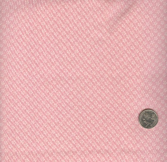 Sewing Fabric Cotton Small Print tiny daisies on pink  No. 189