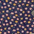 Sewing Fabric Cotton Small Print Roses on Navy 1.5 yds  No. 190