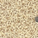 Sewing Fabric Cotton Small Print Flowers on beige 1.33  No. 196