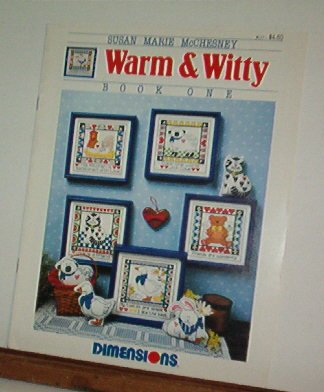 Cross Stitch Patterns WARM AND WITTY Cat, Bear, Goose, Bunny, Chicken & Lamb