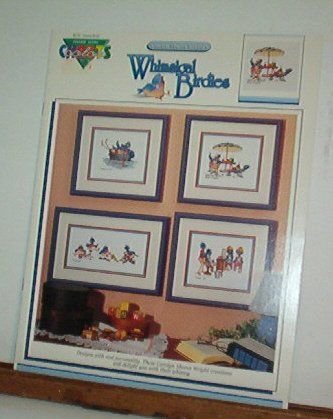 Cross Stitch Patterns WHIMSICAL BIRDIES Silly Bluebirds 4 Designs