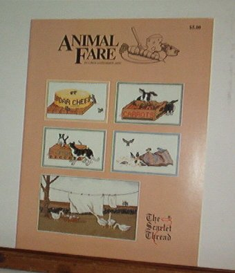 Cross Stitch Patterns ANIMAL FARE Cats, Mice, Birds, Rabbits & Geese