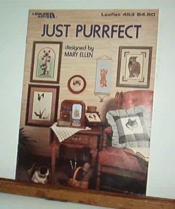 Cross Stitch Patterns - JUST PURRFECT  - Cats 10 Designs
