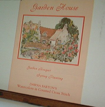 Cross Stitch Patterns GARDEN HOUSE Watercolor Painting in 3 Designs