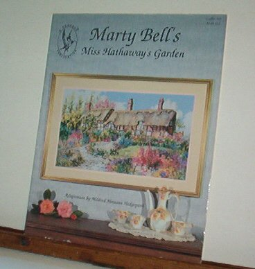 Cross Stitch Pattern - Marty Bell's MISS HATHAWAY'S GARDEN  Beautiful