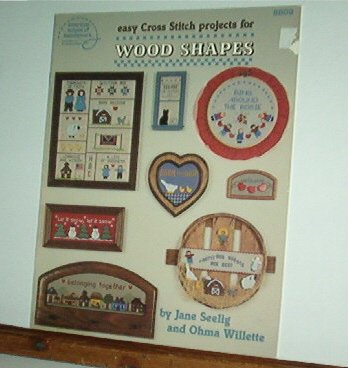 Cross Stitch Patterns, Easy design for Wood shapes, 18 designs