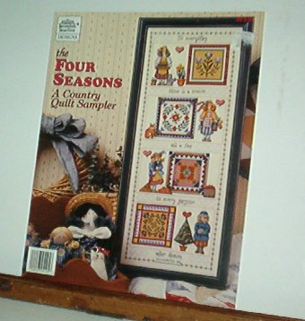 Cross Stitch Pattern, Four Seasons Country Quilt Sampler, one design