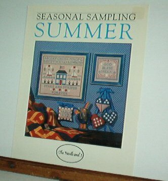 Cross Stitch Patterns, Summer Sampler, House, Patriotic, Cute 4 designs