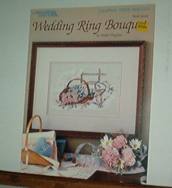 Cross Stitch Pattern, WEDDING RING BOUQUET, Basket and quilt, Pretty  l design