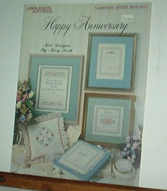 Cross Stitch Pattern, Happy Anniversary sayings and blessings, 12 design