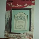 Cross Stitch Pattern, Wedding WHEN LOVES BLOOMS 6 designs and words