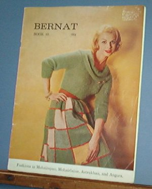 Vintage Knitting Pattern Bernat 89 1960 For women, 16 designs for mohair & angora