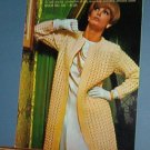 Vintage knitting patterns 1966, Bernat 135 women's sweaters, dresses, coats, 20 designs