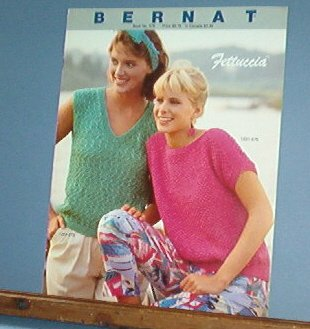 Knitting Patterns, Bernat 570, Fettuccia summer sweaters for women 4 designs