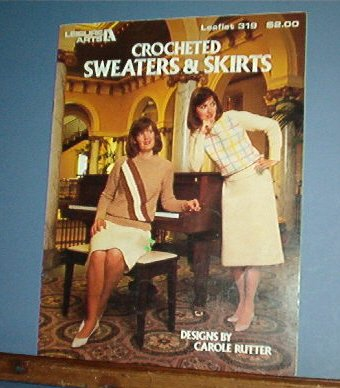 Crochet Patterns Sweaters and Skirts for women, 4 geometric designs
