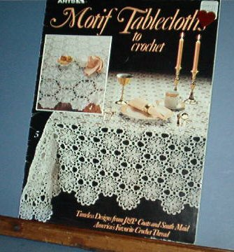 Crochet Patterns, Eight Tablecloth motifs, vintage and old fashioned designs