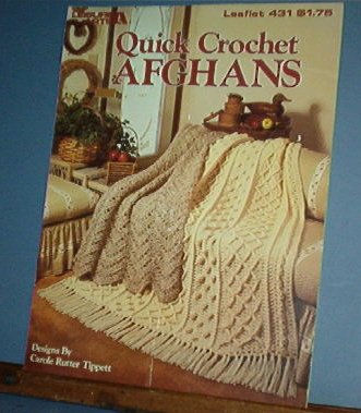 Crochet Patterns Quick AFGHANS 3 designs, handsome