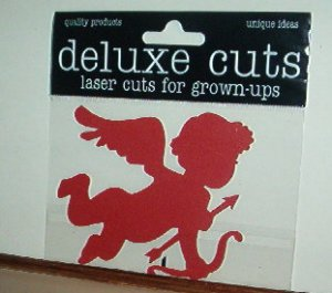 Scrapbooking - Die Cut - Laser Cut 3 X 3 Cupid  New