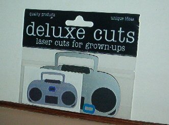 "Scrapbooking - Die Cuts - Laser cut Radio  Boom Box 3 X 2.5 ""  New"