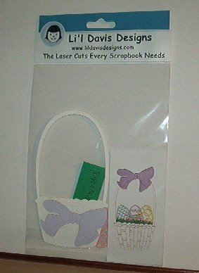 "Scrapbooking - Die Cuts - Laser Cut Easter Basket 2 X 4 "" New"