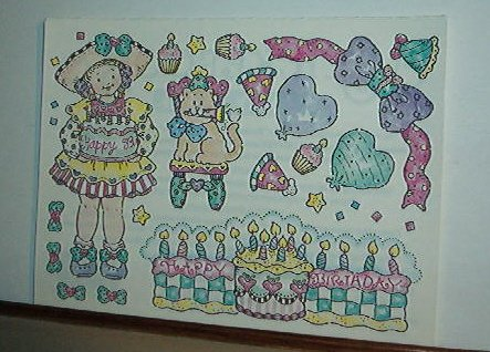 Scrapbooking - Stickers - New  1 sheet - Happy Birthday for Young Girl