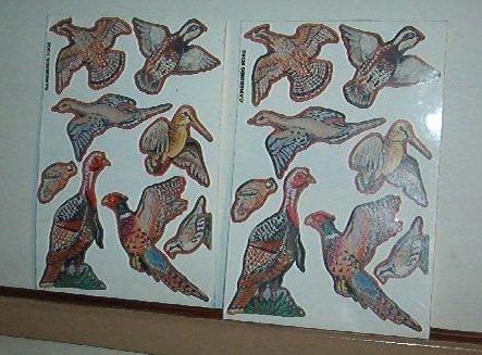 Scrapbooking - Stickers - New  2 sheet - 8 Game Birds