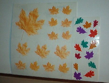 Scrapbooking - Stickers - 1 sheet  Autumn Maple Leaves New