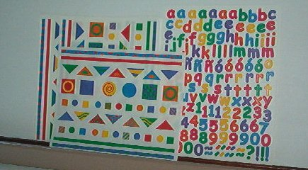 Scrapbooking - Stickers - 3 sheets Alphabet & geometrics Creative Memories New