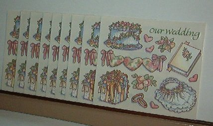 Scrapbooking - Stickers - 9 sheet  Our Wedding